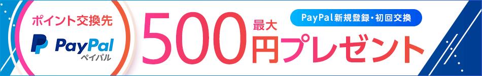 NEW交換先 PayPal 最大500円プレゼント2019年2月28日まで